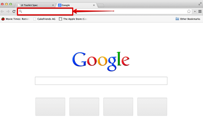 URL Bar in Chrome