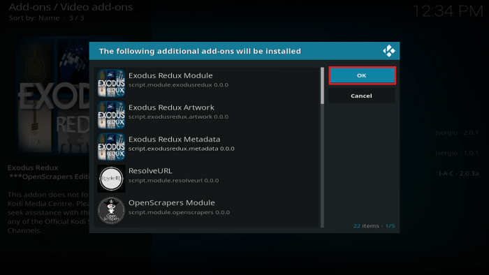 How to install Exodus Redux Kodi Addon